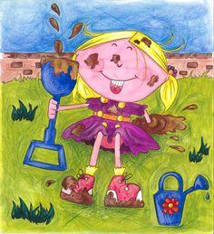 Gertie in the mud! Jeannette Walls, Jennifer Weiner, Erma Bombeck, Mindy Kaling, Rhyming Words, Mud, My Books, Little Girls, Reading