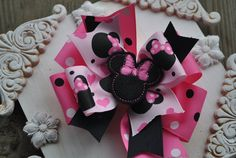 Boutique Bow  MINNIE LOVE Felt Embroidered Bow Sample