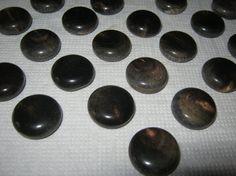 25 Stück Büffelhornknöpfe Braun Dragee Ösenknopf Durchmesser