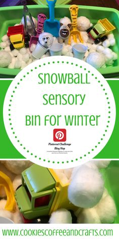 Have snowball fights indoors with this fun snowball sensory bin. The kids will enjoy the hands on learning and discovering in the sensory bin. Perfect for toddlers, preschoolers, and kindergartners. Sensory Bins, Sensory Activities, Infant Activities, Activities For Kids, Sensory Play, Preschool Projects, Diy Crafts For Kids, Craft Ideas, Snowball