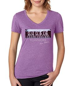 "Gene Schiavone - Womens Ballet Collection ""Teamwork"" Premium Dual Blend V Neck T-shirt (Small) Trunk Candy http://www.amazon.com/dp/B016ZDXPPC/ref=cm_sw_r_pi_dp_cWqqwb0MCQDJM"