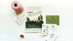 Custom Wedding Invitations by Rifle Paper Co | Oh So Beautiful Paper