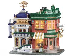 Lemax Fan Pages (VPS) - Christmas Villages Collectors Web Site Lemax Village, Christmas Village Display, Christmas Village Houses, Christmas Town, Putz Houses, Christmas Villages, Christmas Cakes, Christmas Clipart, Doll Houses