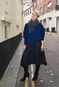 Sandie is wearing German designer #BarbaraSpeer top paired with Croatian designer #IgorDobranic skirt http://www.walkersofpottergate.com/outfit/460/sandie-7/