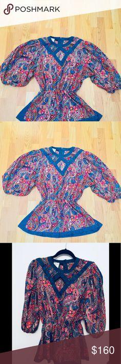 Spotted while shopping on Poshmark: Vintage Top by Diane Freis/ Padded Shoulders! #poshmark #fashion #shopping #style #Diane Freis #Tops
