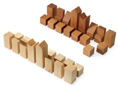 Template for DIY Garden Chess set. Commercial pieces are hundreds of dollars. Some 6x6 lumber and a chop saw could recreate these. Click to see how they all fit together into an awesome storage box too!