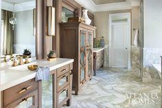 Gorgeous bathroom designed by Matthew Quinn of Design Galleria | Atlanta Homes Magazine