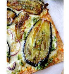 Pizza aux légumes rôtis