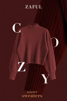 Dropped Shoulder Mock Neck Sweater is very warm and fashionable, fit for winter. Fall Sweaters For Women, Black Sweaters, Winter Sweaters, Fall Fashion Outfits, Winter Outfits, Winter Fashion, Model Outfits, Cute Outfits, Jean Court