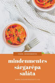 Mindenmentes, vegán, sárgarépa saláta, tökéletes savanyúság-köret. Egyszerű, de finom és színes. Thai Red Curry, Sugar Free, Chili, Ethnic Recipes, Food, Meal, Chile, Essen, Chilis