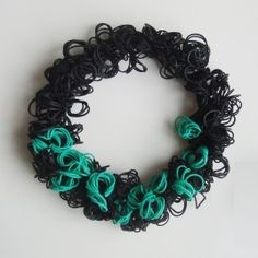 Margarita Mileva. Bubble Green Necklace, 2011. Black and green rubber bands; approximately 18″ – streachable. Photo by Margarita Mileva.