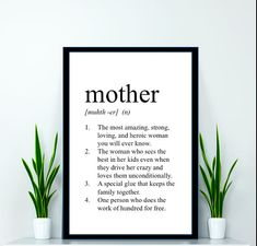Mother Print - Definition Print - Dictionary Print - Mothers Day Gift - Gifts for mom - gifts for mother - mother wall art - mom print Mutter Print Mother Birthday Gifts, Diy Mothers Day Gifts, Mother Day Gifts, Gifts For Mom, Happy Mothers Day, Mom Quotes From Daughter, Mothers Day Quotes, Anniversary Ideas For Him, Mom Poems