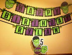 The Hulk Inspired Happy Birthday Banner por PaperPiecingDreams
