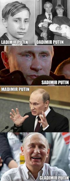 The moods of Vladimir Putin - Imgur Dankest Memes, Funny Memes, Jokes, Haha, E Mc2, Funny Cute, Crazy Funny, Funny Posts, Best Funny Pictures