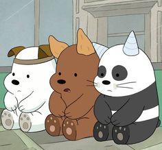 gambar we bare bears, cartoon, and bear Cartoon Cartoon, Bear Wallpaper, Disney Wallpaper, Pardo Panda Y Polar, We Bare Bears Wallpapers, Animated Icons, We Bear, Cute Cartoon Wallpapers, Cute Bears