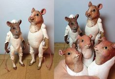 RESERVED SPECIAL ORDER: 3 Mice Art Dolls