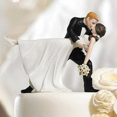 Wedding Reception Dancing Couple Cake Topper