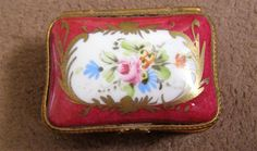 Vintage Hinged Trinket Box - Marked: Hand Painted France - Limoges? by Something2SingAbout on Etsy