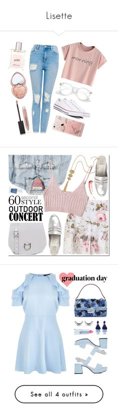 """""""Lisette"""" by theweatherqueer ❤ liked on Polyvore featuring Converse, Too Faced Cosmetics, Burberry, philosophy, Zimmermann, H&M, StyleNanda, The Leather Satchel Co., Dolce Vita and The Hand & Foot Spa"""
