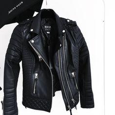 "4d548f5ae9460 MONIʞA on Instagram  ""New In ❤ Kay Michaels, oil black  bodaskins   bodaskins  perfect  leather  jacket  loveit"""