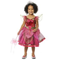 Girls Lime Green Fairy Outfit w//Headband,Wand /&Wings Dress Up Role Play BNWT