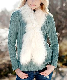 Love this Donna Salyers' Fabulous-Furs Ivory Faux Fur Scarf by Donna Salyers' Fabulous-Furs on #zulily! #zulilyfinds