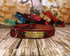 Cat Collar, cat collar breakaway, Soft  leather cat collar, breakaway cat collar, breakaway collar, breakaway clasp, personalized collar. by VacForPets on Etsy