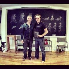 With Lee Saxby from @Vivobarefoot