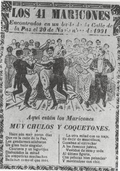 """commiepinkofag: """" Arrest of """"The in Mexico City, 1901 """" The only accounts of the raid conducted by Mexico City's police on a private party come from a decidedly unapproving and often sensational. Queer Art, Feminist Art, Chicano Style Tattoo, Cowboys Vs, Vintage Classics, Vintage Cartoon, Baja California, Mans World, History Facts"""