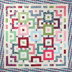 tula pink elizabeth quilt - good fortune quilt pattern by Kate spain