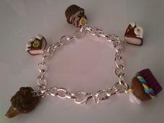 Fimo - Bracelet Heart Charm, Bracelets, Creations, Clay, Charmed, Jewelry, Jewels, Bangles, Jewlery