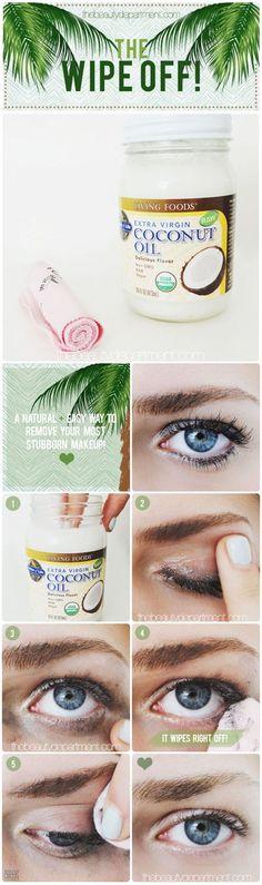 DIY Hacks: 59 DIY Beauty Tutorials. Natural eye makeup remover that really works. Skincare Tips and Tricks. | Makeup Tutorials http://makeuptutorials.com/diy-beauty-tips-and-tricks/