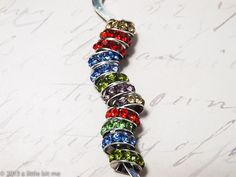 EURO_Rondelle Rhinestone Spacers. Starting at $5 on Tophatter.com!