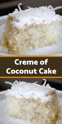 I'm going to confess that at some point in my life I was addicted to coconut. There is a good reason why vegans love coconuts, they are so versatile and is a great healthy alternative # coconut Desserts Kokos Desserts, Coconut Desserts, Coconut Recipes, Köstliche Desserts, Delicious Desserts, Coconut Poke Cakes, Coconut Creme Cake Recipe, Coconut Cake Frosting, Coconut Cake Easy