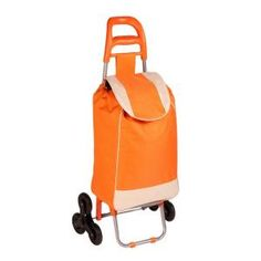 Honey-Can-Do, Bag Cart in Orange with Tri-Wheels, CRT-04789 at The Home Depot - Mobile $36.02