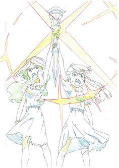 Diana and Akko, by 宇佐見メリー (@usamimeri)