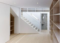 Water closet in relation to staircase.