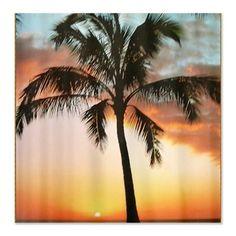 hawaiian sunset with palm tree prin Shower Curtain Hawaiian Sunset, Hawaiian Decor, Tree Shower Curtains, Palm Trees Beach, Beach Bathrooms, Bathroom Ideas, Scenery, Houses, Decor Ideas