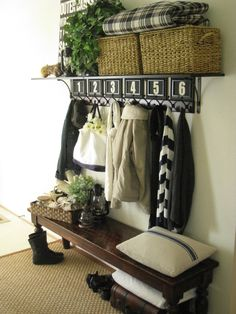 Different wood tones, black n white, and adding green with plants always works!