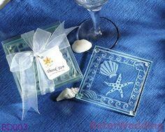 Shell starfish e porta-copos de vidro fosco Beter- bd003        Seus favores originais do casamento倍樂婚品BeterWedding     http://aliexpress.com/store/512567     Wholesale ; http://beterwedding.com     #casamento #boda #presentes #presente #ofício #artes