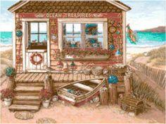 Beach Shop 7 Cross Stitch Pattern