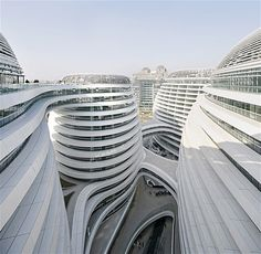 Image: Galaxy Soho complex in Beijing, designed by Zaha Hadid. (© View Pictures/Rex Features)