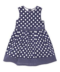 Look what I found on #zulily! JoJo Maman Bébé Navy Polka Dot Party Dress - Infant, Toddler & Girls by JoJo Maman Bébé #zulilyfinds