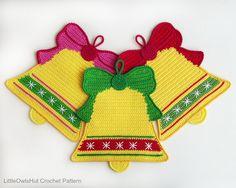Ehi, ho trovato questa fantastica inserzione di Etsy su https://www.etsy.com/it/listing/259809400/107-crochet-pattern-bells-decor
