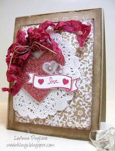wee inklings - SU - Valentine - shabby chic - Create with Connie and Mary, Endless Thanks, Good Greetings