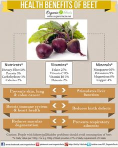 Health Benefits of Beets:The health benefits of beets include the treatment of anemia, indigestion, constipation, piles, kidney disorders, dandruff, gall bladder disorders, cancer, and heart disease. It also helps to prevent macular degeneration, improve blood circulation, aid in skin care, prevent cataracts and mediate respiratory problems. These health benefits of beet roots can be attributed to their richness in nutrients, vitamins and minerals.