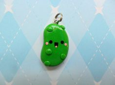 Pickle Charm Polymer Clay Charm