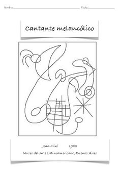 Discover recipes, home ideas, style inspiration and other ideas to try. Miro Artist, Artist Art, Joan Miro Paintings, Ecole Art, Spanish Painters, Art Classroom, Art Plastique, Art Activities, Colouring Pages
