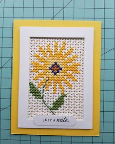 The background here is another free pattern from using the die. And more stitched blooms from… Celtic Cross Stitch, Small Cross Stitch, Cross Stitch Letters, Cross Stitch Cards, Cross Stitch Flowers, Stitching On Paper, Cross Stitching, Cross Stitch Embroidery, Card Patterns