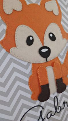Felt Animal Patterns, Stuffed Animal Patterns, Fox Decor, Baby Decor, Fox Crafts, Felt Finger Puppets, Fox Nursery, Baby Shawer, Felt Decorations